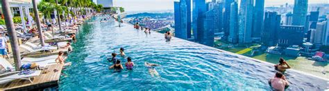 singapur schwimmbad auf dem dach marina bay sands infinity pool der extraklasse