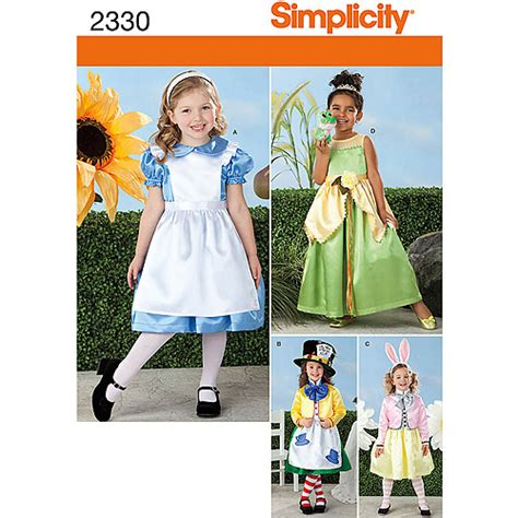 pattern for white rabbit costume simplicity pattern alice mad hatter white rabbit costumes