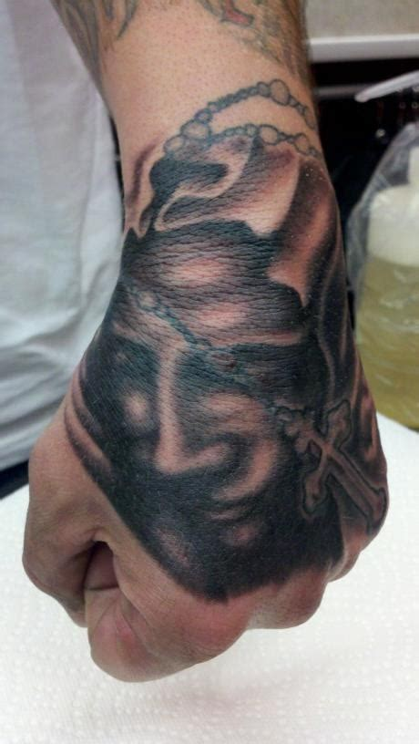 100 proof tattoo rosary by caraballo tattoos by
