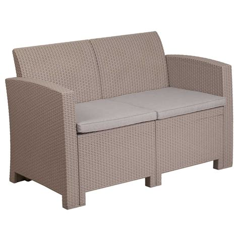 outdoor loveseat faux rattan outdoor loveseat charcoal in outdoor sofas