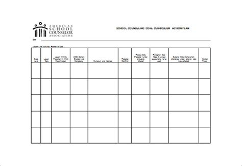 asca lesson plan template school counseling plan exles