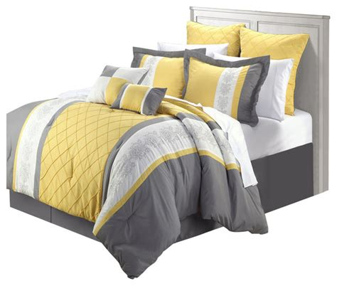 bed and bag comforter sets livingston yellow comforter bed in a bag set 8