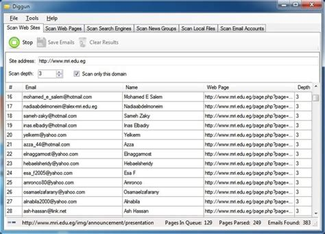Search Emails Diggun Extracts Emails From Web Search Engines