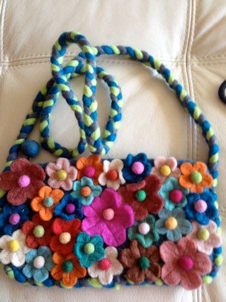 Handmade Handbag - by molano felt wool purse handmade handbag by