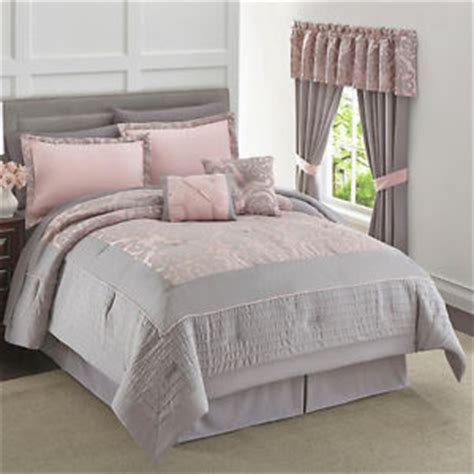 Gray And Pink Comforter Set by Pink Gray 6 Pc Size Comforter Bed Bedding Set