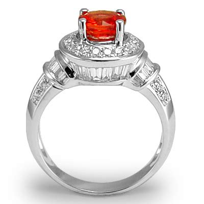 anzor jewelry 18k white gold 1 35ct orange sapphire 0