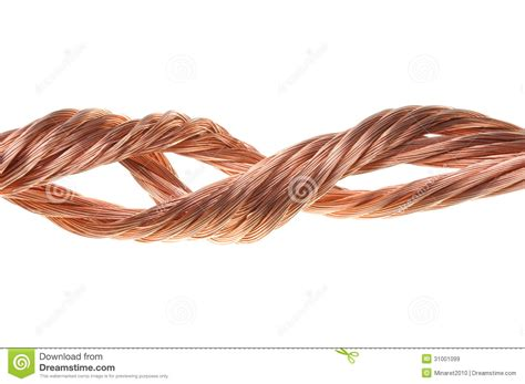 twisted copper wire fencing material twisted copper wire isolated royalty free stock images image 31001099