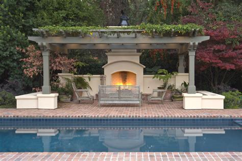 houzz backyard patio atherton residence pool and patio