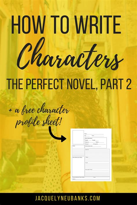 how to tips salvaged inspirations part 2 how to write the perfect novel pt 2 characters