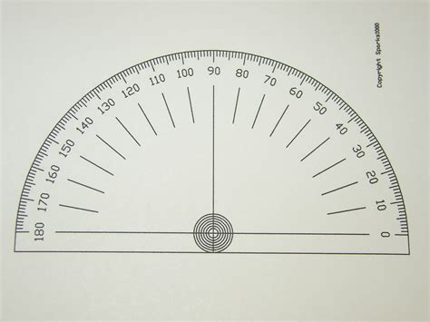 printable protractor and ruler protractor 180 degrees images