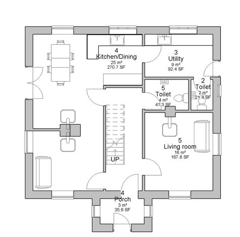 ground floor plan of a house house plans architect designed irish house designs and floor plans floorplan ie