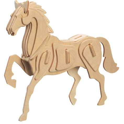 3D Wooden Horse Puzzle   Hobbycraft