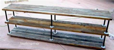 Plumbing Pipe Tv Stand by Anythingology Diy Industrial Shelves Furniture