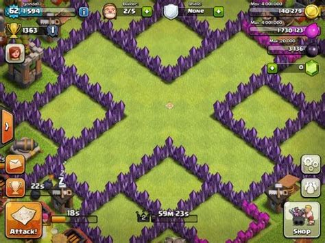 coc village layout th7 clash of clans town hall level 7 base layouts coc th7