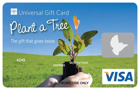 Are Visa Gift Cards Accepted Everywhere - universal visa gift card plant a tree
