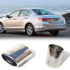 1pcs oval exhaust muffler pipe tip tailpipe for honda
