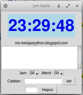belajar membuat jam digital daftar isi membuat jam digital dan alarm di python