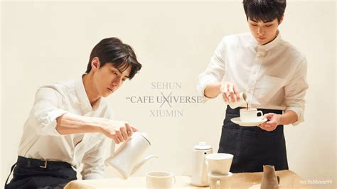 exo cafe universe sehun x xiumin exo cafe universe wallpaper by
