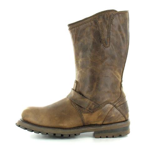 mens calf boots caterpillar cat mens grain leather pull up