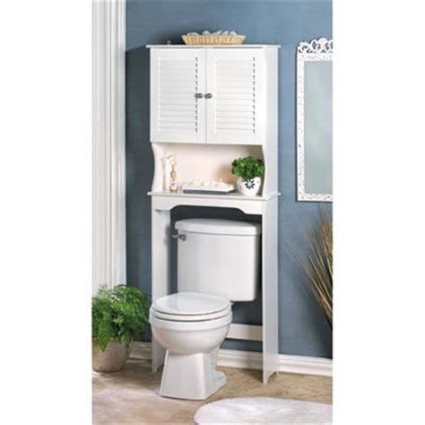 bathroom storage shelf cabinet toilet space saver white nantucket style