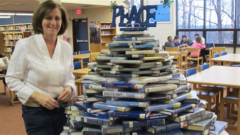 reference books for high school libraries west essex high school library creates book tree news