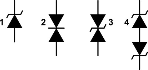 differences between tvs diode and zener diodes in diagrams and in practice electrical