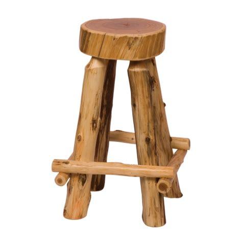 Cedar Log Bar Stools by Fireside Lodge Cedar Log Bar Stool