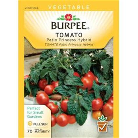 burpee tomato patio princess hybrid seed 64046 the home