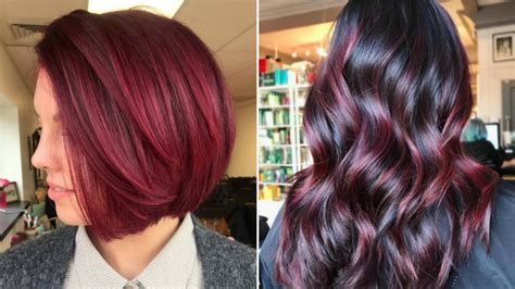 cranberry hair color cranberry hair is the sauciest winter hair color trend