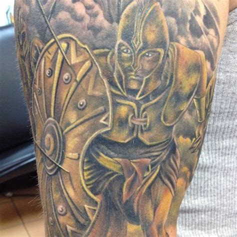 roman cross tattoo warrior