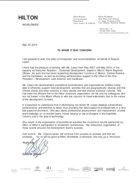 Reference Letter Hospitality reference letter 1