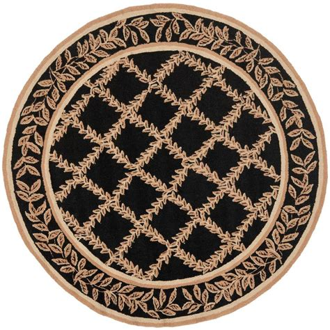 4 Foot Rugs by Safavieh Chelsea Black Gold 4 Ft X 4 Ft Area Rug