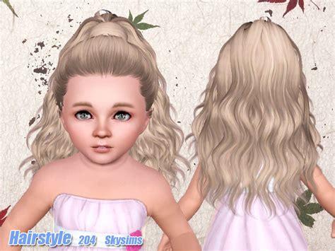 skysims hair child 204 sims 3 pinterest sims skysims hair 204