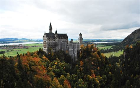 neuschwanstein castle germany commanding  view