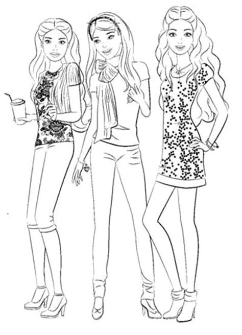coloring pages of barbie and her friends barbie and friends coloring pages kids coloring pages