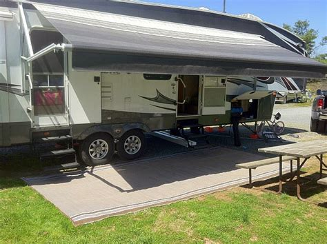 awning for motorhome rv mats read this before buying an rv patio mat