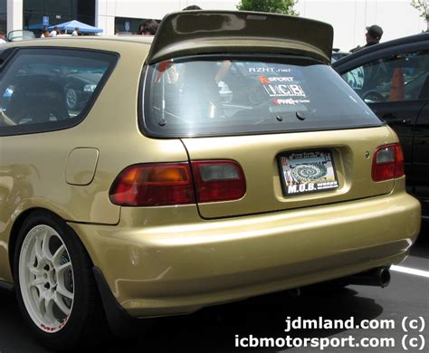 Backyard Special by Backyard Special Bys Eg6 Civic Hatchback Roof Spoiler Kevlar