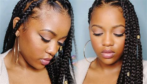 how to jumbo box braids rubberband method video can t grip those roots try box braids using the
