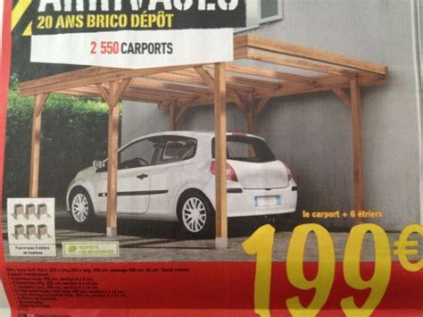 Abri Voiture Brico Depot 3784 by Carport Brico Depot