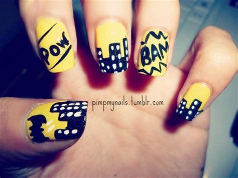 nail art batman tutorial 35 designs of batman nail art for batman fans