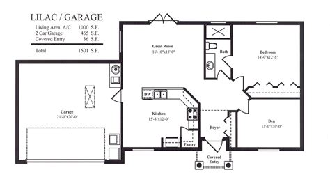 small house floor plans with garage future work garage guest house plans