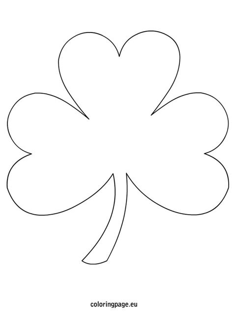 shamrock printable template coloring page