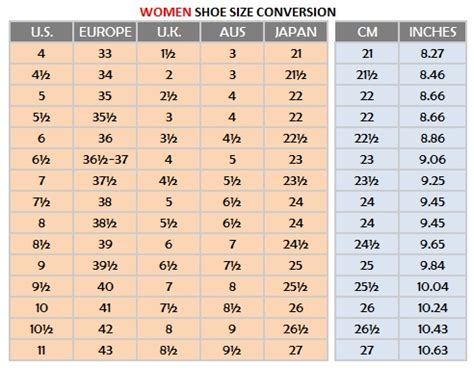 shoe size chart different countries 30 awesome women shoes chart sobatapk com
