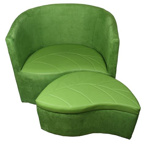 Ore International 29 Inch Green Suede Accent Chair With Chair With Storage Ottoman