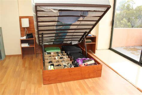 camas plegables cing base de cama abatible closet king madera y herrer 237 a