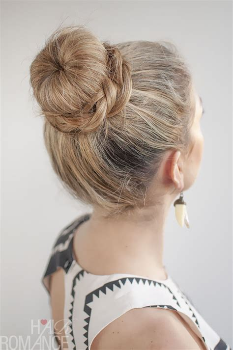 Donut Hairstyles by 30 Buns In 30 Days Day 11 Donut Bun And Braid