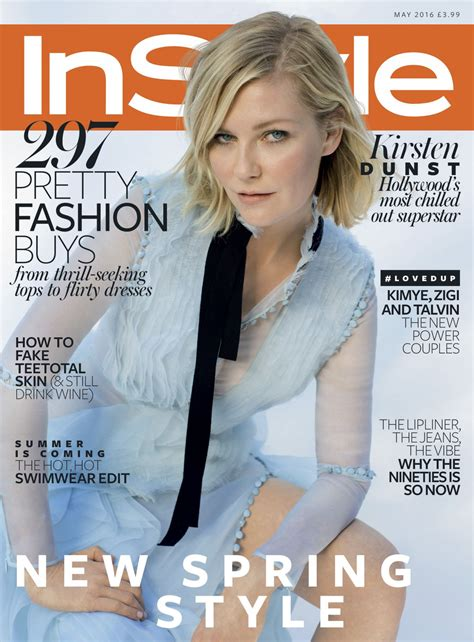 On Cover Of In Style by Kirsten Dunst Instyle Magazine Uk May 2016 Cover And Photos