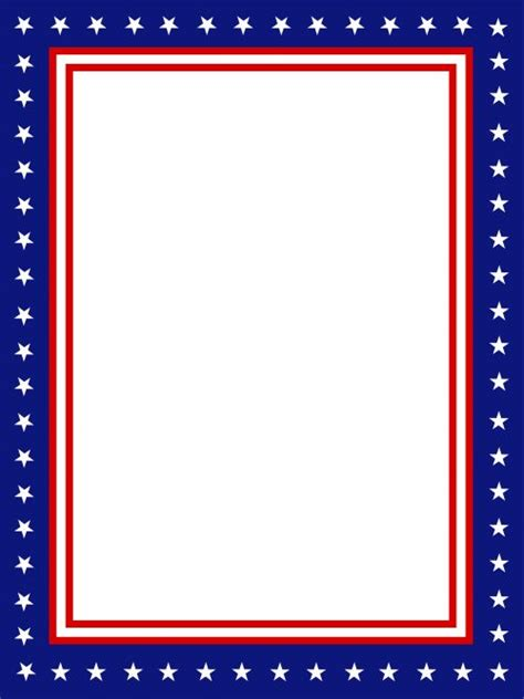 printable american flag a4 usa presidential stationary border crafts activities