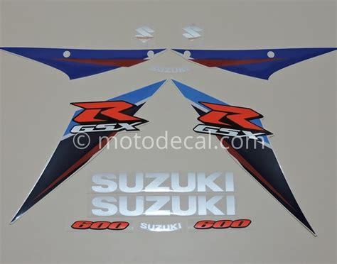 Suzuki Decal Kit Suzuki Gsx R 600 2007 Blue White Decal Kit By Motodecal