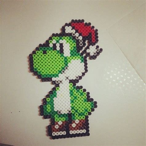 perler bead yoshi pin by fran boos on pixelated
